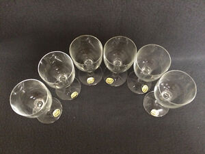Collectible Antique Set of 6 Bohemia Crystal Sherry Glasses Neve London Ontario image 5