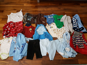 Newborn to 6 month old boys clothing - $35 for whole set.