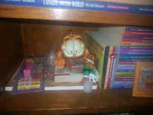 Giant garfield book and toy collection