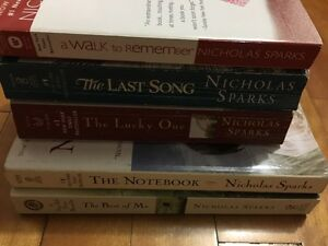 Nicholas Sparks lot of books for sale