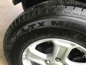 Michelin LTX M/S-2 (P) 245/75/R17 tires for sale.