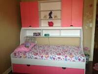 Kids Bed set with Book shelf and tons of storage