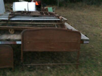 Antique bed Old Steel Frame  - make a reasonable offer-barn find