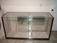 GLASS DISPLAY CASE / MOTOR CYCLE PARTS/OR?