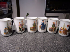 6 Norman Rockwell Museum collectible mugs.