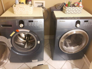 Front loading Samsung washer and dryer