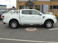 2015 Ford Ranger 4x4 D/Cab 2.2 Tdci Limited 150PS Diesel white Manual