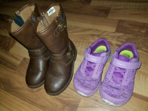 Girls Size 8 Boots and Sneakers