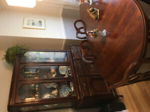 Dining room set, solid wood, antique