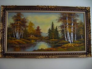Beautiful Painting of Canadian Landscape