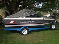 1988 Starcraft 17' bowrider boat for sale
