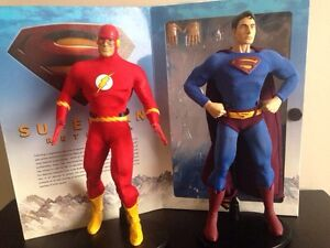 Dc collectibles Deluxe figures Superman and Flash Strathcona County Edmonton Area image 1