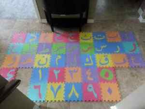 Arabic alphabet and numbers foam mats