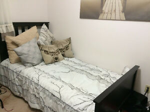 IKEA - Twin Bed Frame and Mattress less than 2 years old!