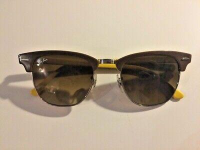 Ray Ban Clubmaster Limitiert Gelb Braun Sonnenbrille Kult Klassiker Sommer