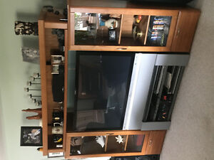 HD rca tv and wall unit