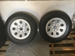 "17"" Chev / GMC Factory Steel Rims & Tires"