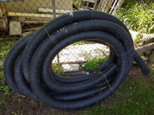 75' OF SOLID CORRUGATED DRAIN PIPE