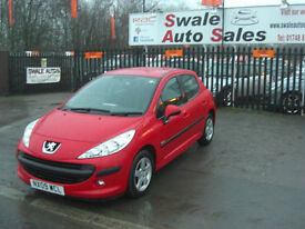 2009 PEUGEOT 207 VERVE 1.4L ONLY 55,240 MILES, FULL SERVICE HISTORY