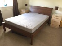 Double bed & mattress, barely used