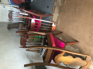 Antique chairs and cabinet free