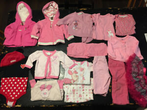 Girls 3-6 month used clothing