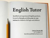 English and History Tutor - Stroud, Gloucestershire (Skype Tuition Available)