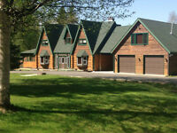 Gorgeous Log Home on 2.28 Acres minutes from Prince George