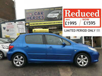 2006 PEUGEOT 307 S 1.6 PETROL 5DR ( AA ) WARRANTY PACKAGE INCLUDED