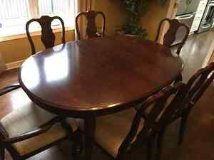 Dining Room Set with 8 Chairs & China Cabinet