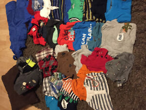 Baby Boy Lot 18/24 months 110+ articles of clothing