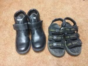 Men's winter boots, shoes, sandals. Mostly Velcro for seniors.