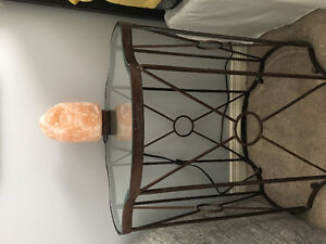 Glass top Side Table/ Nightstand