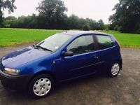 2002 fiat punto 1.2 petrol full years mot low miles cheap for quick sale