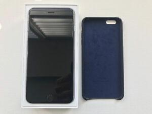 iPhone 6 Plus 16GB Space Grey and Apple Leather Case