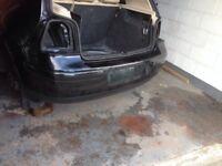 VW GOLF GTI MK4 REAR BUMPER IN BLACK MAGIC COLOUR L9Z GOOD CONDITION BUYER TO COLLECT PRESTON LANCS