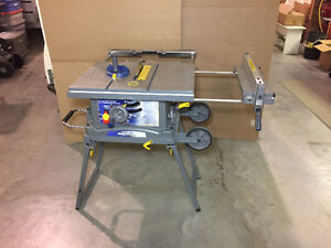 Mastercraft 10 Inch, Folding Job Site Table Saw with wheels