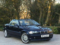 BMW 320 CONVERTIBLE 2.2 2002 MY Ci MANUAL ELECTRIC ROOF FULL LEATHERS PX SWAP