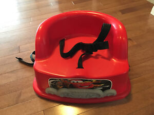 Cars kitchen table chair booster