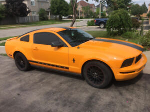 2007 Ford Mustang V6  Orange Automatic Trans - NO accidents