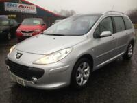 56 PEUGEOT 307 1.6 SE SW SILVER 7 SEATS (INCLUDED)
