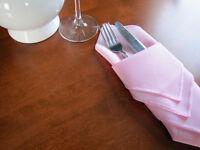 9 Dozen (108) Pink Napkins - $105
