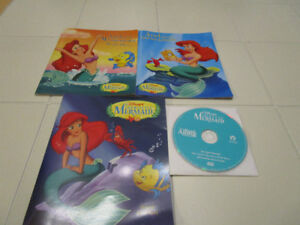 3x The Little Mermaid read along books with CD