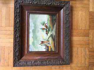 Beautiful framed art very old from the netherlands