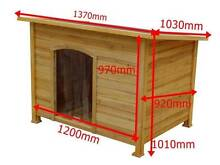 Super X-LARGE WOODEN DOG HOUSE TIMBER CABIN DOG KENNEL WOOD HOUSE Auburn Auburn Area Preview