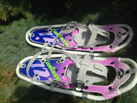 Barely used youth snowshoes