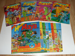 14 Capitaine FLAM Maya L'Abeille collection lot comic book livre