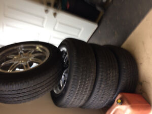 "20""Tires and rims set of 4"