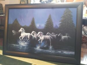 NEW HORSES HAND PAINTED PAINTING