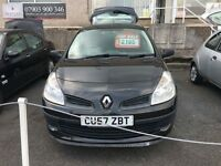 57 plate Clio 1.5 dci diesel, 83k with history £30 tax